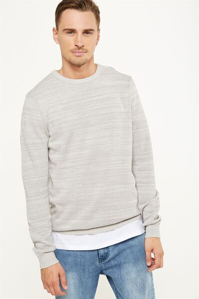 Lightweight Crew Sweater, GREY TWIST
