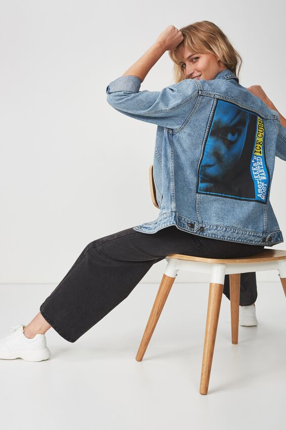 Ice Cube Denim Jacket, ICE CUBE MOST WANTED/BLUE
