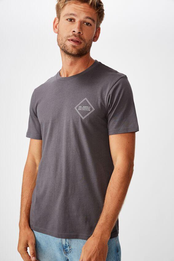 Tbar Street T-Shirt, LATE NIGHT BLUE/DIAMOND COLLECTIVE