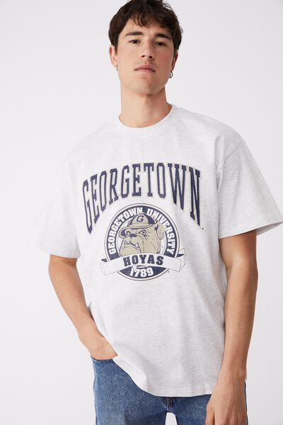Special Edition T-Shirt, LCN GEO WHITE MARLE/GEORGETOWN - HOYAS