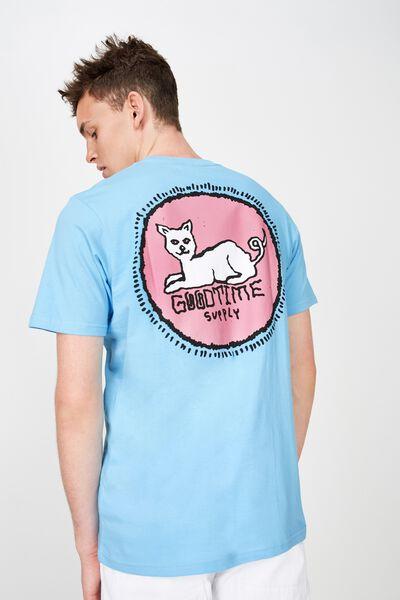 Street T-Shirt, VIBRANT BLUE/GOODTIMES CAT