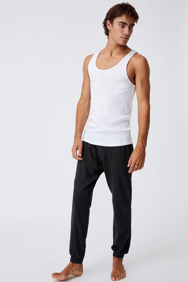 Organic Jersey Sleep Pant, WASHED BLACK