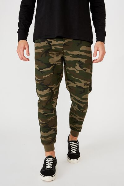 Trippy Slim Trackie, FIELD CAMO GREEN