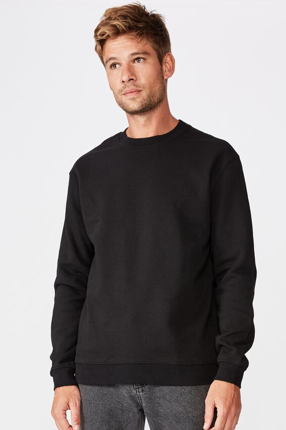 Essential Crew Fleece, BLACK