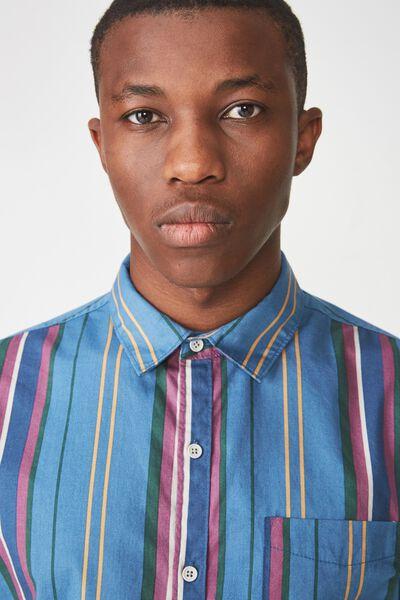 Troubadour Shirt, DENIM MULTI STRIPE