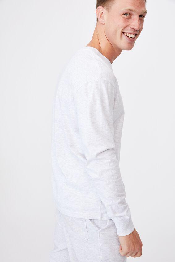 Tbar Long Sleeve T-Shirt, WHITE MARLE/NY ORIGINAL