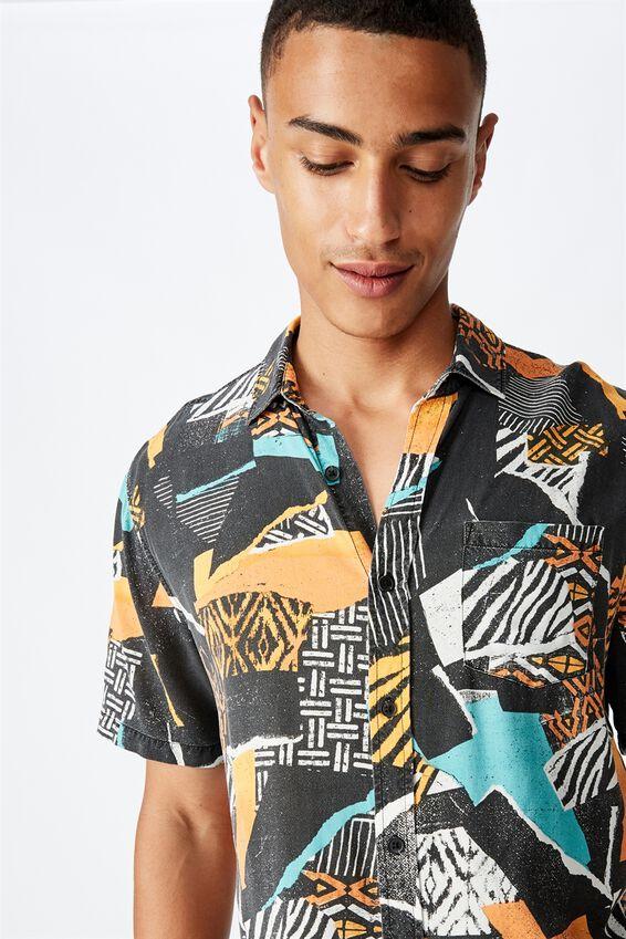 91 Short Sleeve Shirt, SMASHED TRIBAL