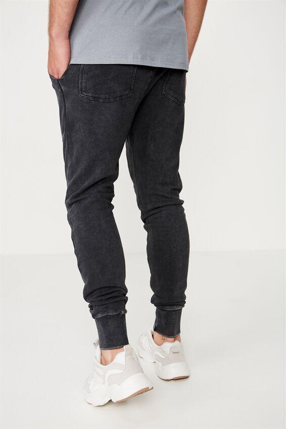 Super Skinny Trackpant, BLACK