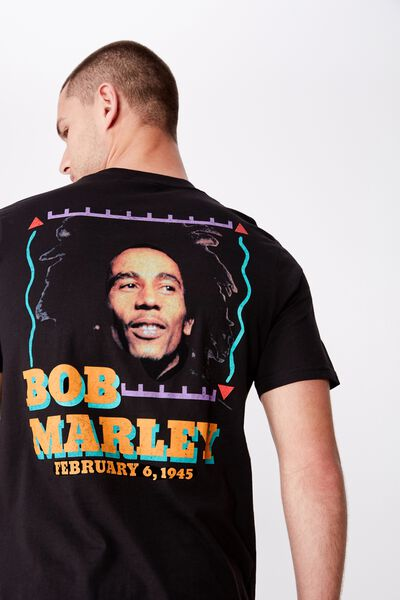 Tbar Collab Music T-Shirt, LCN BRA SK8 BLACK/BOB MARLEY HOMAGE