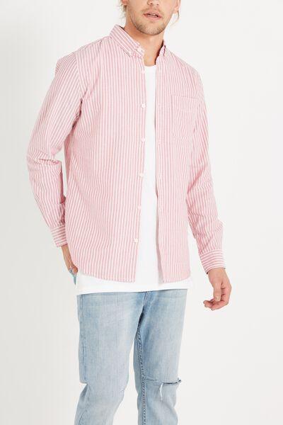 Brunswick Shirt 3, RED BOLD STRIPE