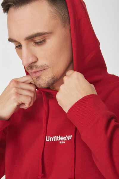 Fleece Pullover 2, FIRE RED/UNTITLED NO 7