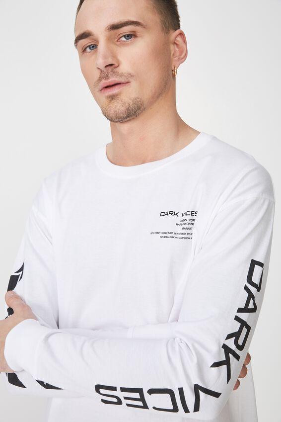 Tbar Long Sleeve, WHITE/DARK VICES