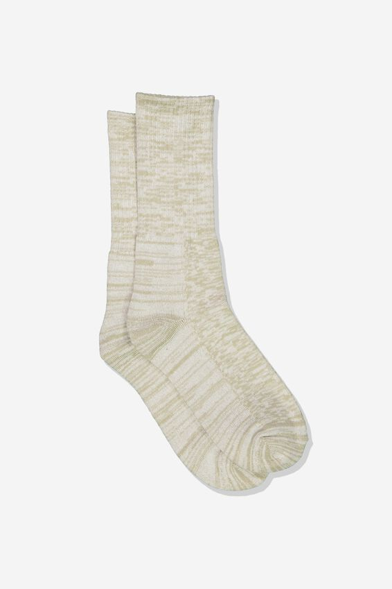 Single Pack Active Socks, SAND MELANGE