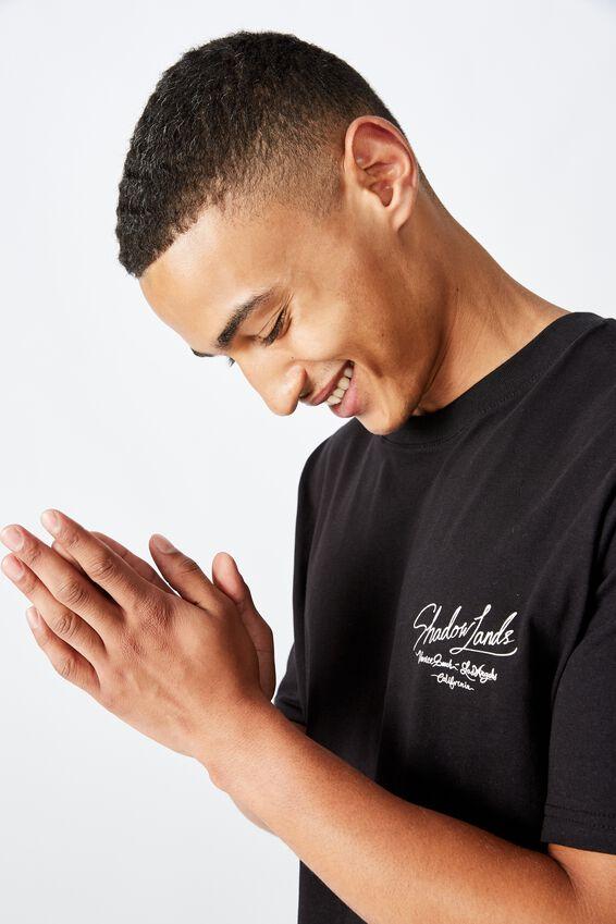 Tbar Art T-Shirt, SK8 BLACK/DARK MOON AIRBRUSH