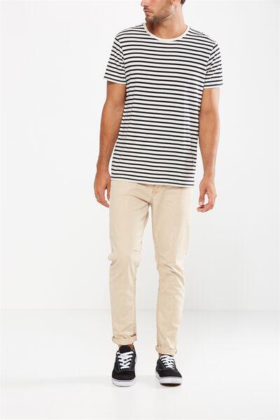 Tapered Leg Jean, STONE