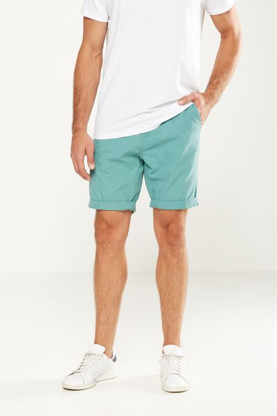 Washed Chino Short, LIGHT GREEN