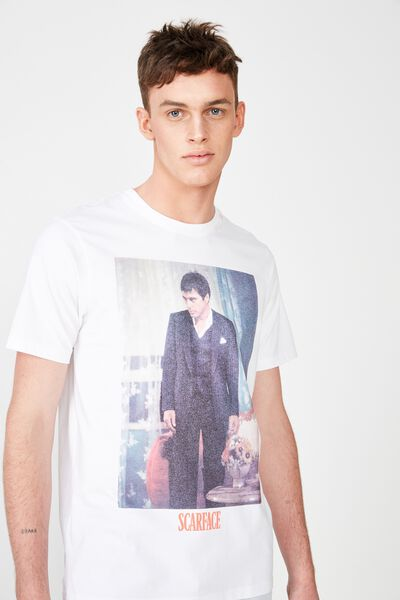 Tbar Collab Movie And Tv T-Shirt, LC WHITE/SCARFACE - TONY MONTANA