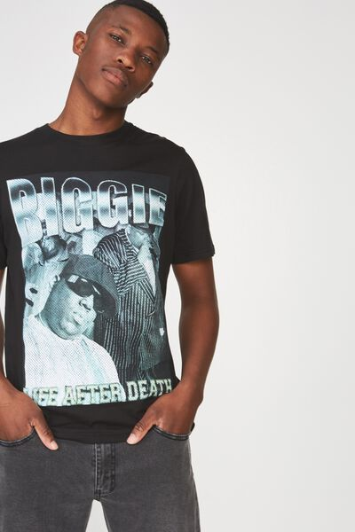 Tbar Collaboration Tee, LC BLACK/BIGGIE-LIFE AFTER DEATH