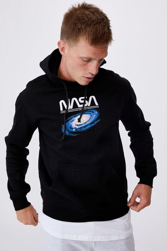 Collab Fleece Pullover, LCN NAS BLACK/NASA GALAXY