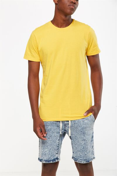 Essential Crew Tee, SAFETY YELLOW