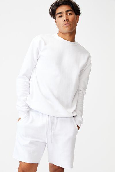 Pigment Fleece Short, WHITE