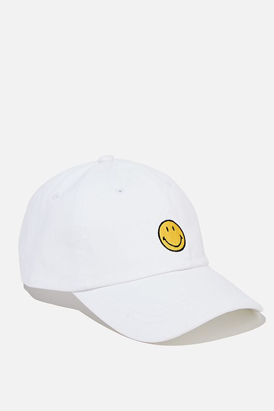 Special Edition Dad Hat, LCN SMI SMILEY ICON/WHITE