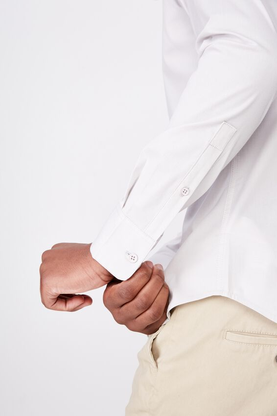 Tailored Long Sleeve Shirt, ICE GREY