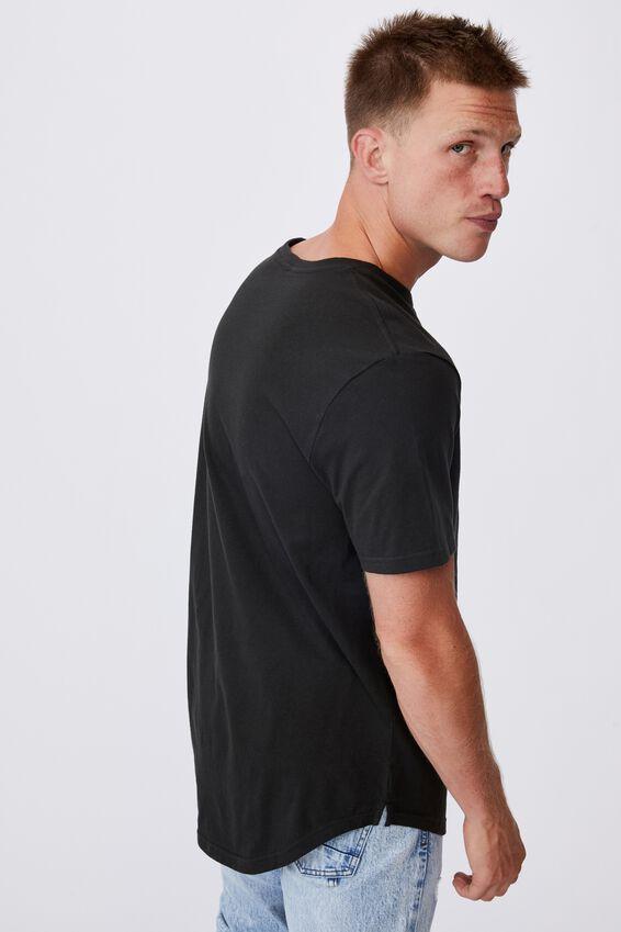 Longline Scoop Lounge T-Shirt, LCN LN WASHED BLACK/NIRVANA - SPIRAL