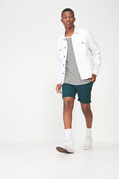 Washed Chino Short, ATLANTIC GREEN