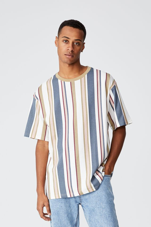 Downtown T-Shirt, DIRTY PINK MIXED STRIPE