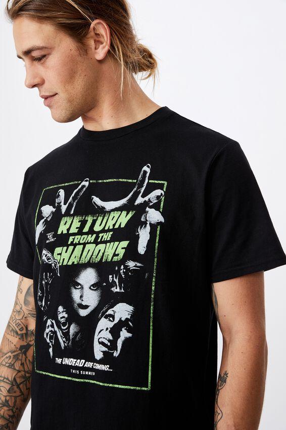 Tbar Art T-Shirt, BLACK/RETURN FROM THE SHADOWS