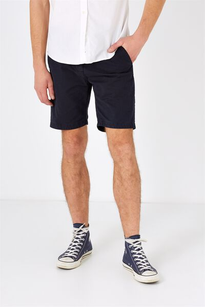 Washed Chino Short, WASHED NAVY