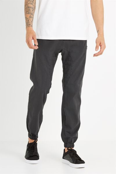 Customised Drake Cuffed Pant, WASHED DOWN BLACK # 16