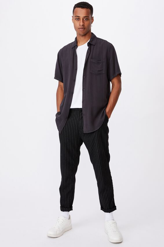 Oxford Trouser, PINSTRIPE BLACK