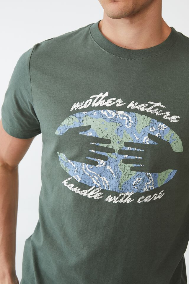 Tbar Art T-Shirt, FOREST/HANDLE WITH CARE
