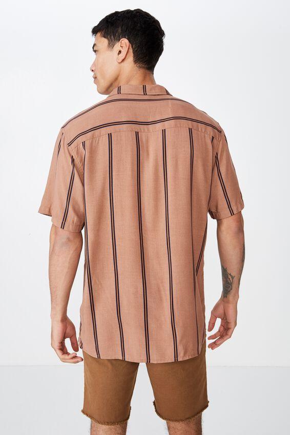Festival Shirt, TAN NAVY STRIPE