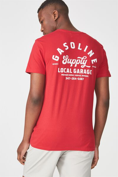 Tbar Tee 2, FIRE RED/GASOLINE SUPPLY