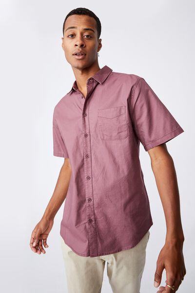 Vintage Prep Short Sleeve Shirt, VINTAGE RED