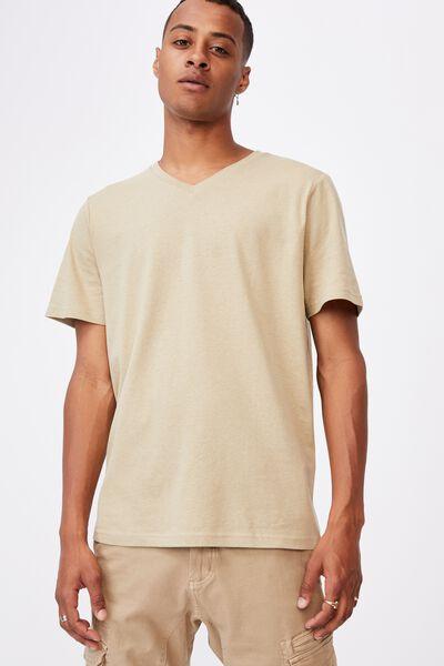Essential Vee Neck T-Shirt, GRAVEL STONE