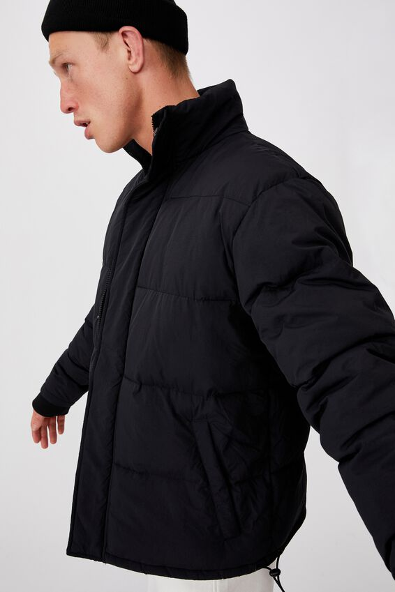 Essential Recycled Puffer, BLACK