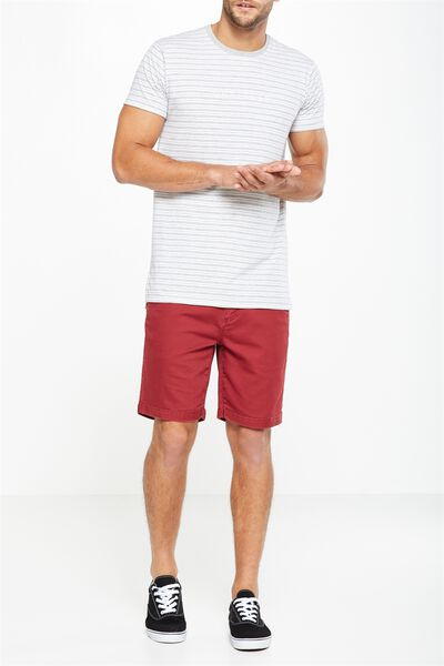 Tailored Casual Short, WASHED RED