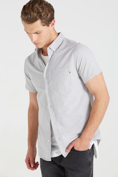 Vintage Prep Short Sleeve Shirt, GREY OXFORD