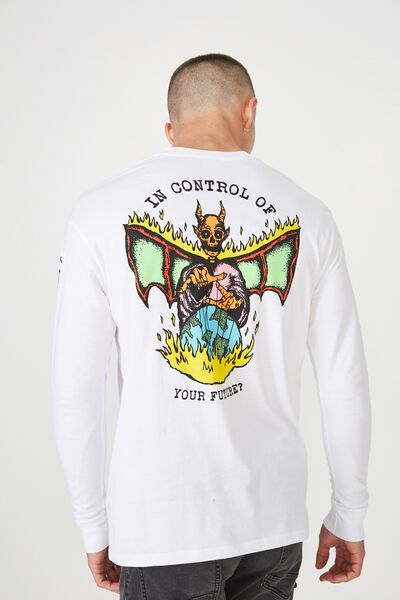Tbar Long Sleeve, WHITE/YOUR FUTURE