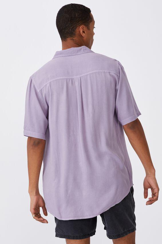 Cuban Short Sleeve Shirt, MAUVE