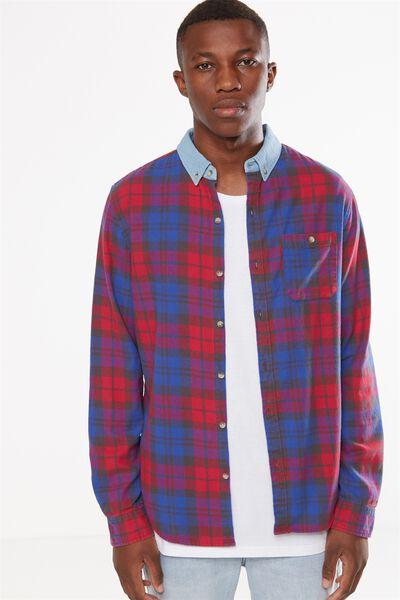 91 Shirt, COBALT CHECK
