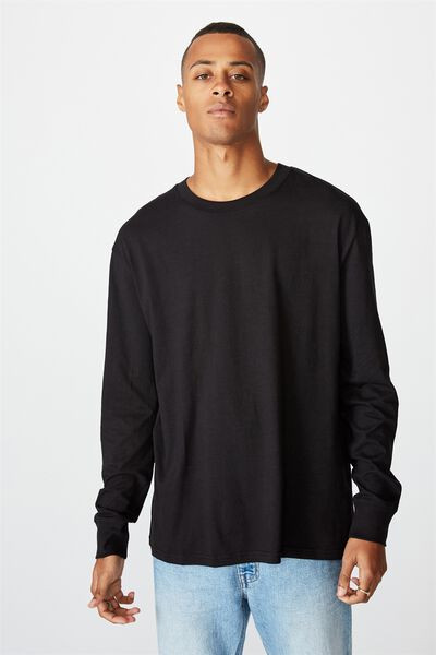 Tbar Long Sleeve T-Shirt, BLACK