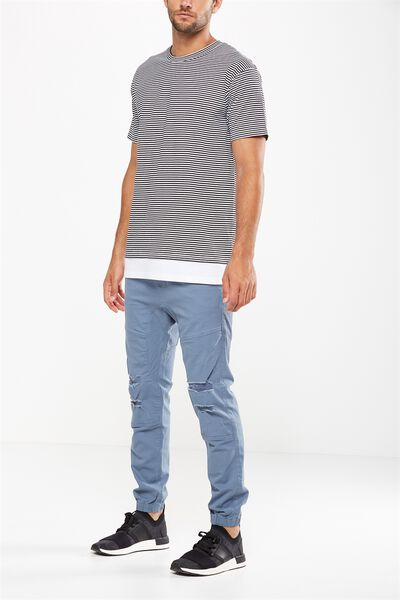 Drake Cuffed Pant, RIPPED FORCE BLUE