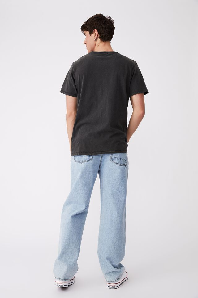 Ford T-Shirt, LCN FOR WASHED BLACK/FORD-MUSTANG
