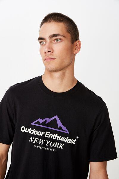 Tbar Sport T-Shirt, BLACK/OUTDOOR ENTHUSIAST