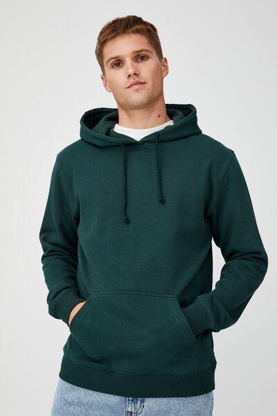 Essential Fleece Pullover, VARSITY GREEN